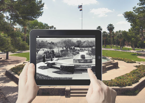 The Arizona Centennial Project, which is currently under way, also is being funded by UA's Confluence: Center for Creative Inquiry and the Louis and Marjory Slavin Fine Arts Endowment. UA faculty members working on the project are developing short films to be released during the 2012-13 academic year. To be utilize via mobile apps, the augmented reality app will enable viewers on campus to take a look at the past.