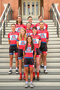 Erica Clevenger (front) with her UA cycling teammates (Photo: Carl Patterson)