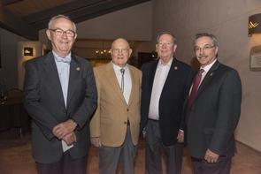 Four former deans of the UA College of Medicine: Kenneth J. Ryan, Jack M. Layton, James E. Dalen and Steve Goldschmid.