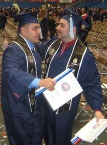 UA graduates celebrating commencement.
