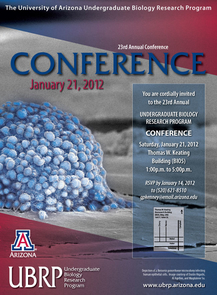 The 23rd annual UBRP conference will be held Jan. 21, 1-5 p.m. in Room B105 of the UA's Thomas W. Keating Bioresearch Building.