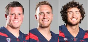 Cody Creason, Jake Glatting and Jamie Nunley (Photos: Arizona Athletics)
