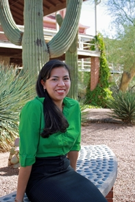 After graduation, Denise Garcia hopes to pursue a doctorate degree and join the Peace Corps and will continue studies in the local efforts of sustainable management of the environment in Northern Mexico. (Photo credit: Beatriz Verdugo/UANews)