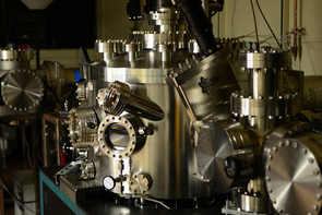 In Wang's lab, researchers use thin film deposition chambers to make nanometer-thin magnetic tunnel junctions under an ultra-high vacuum. (Photo: Weigang Wang)