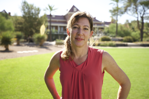 Diana Daly is an assistant professor in the School of Information, where she teaches large classes on topic including social media, digital culture and information (Photo: Luis Carrión)