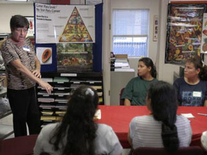 Cooperative Extension works to deliver important nutrition messages to low-income families through the federal EFNEP and SNAP-Ed education programs.