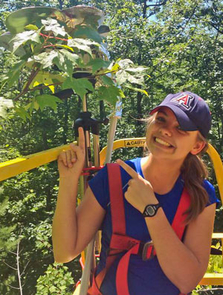 UA chemical engineering student Jeannie Wilkening conducts research relating to climate change as a summer intern at the University of Michigan Biological Station. She has done research with several UA environmental engineering faculty.
