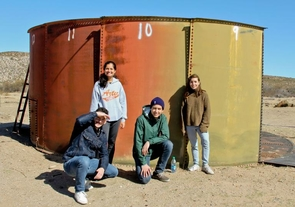 The Engineers Without Borders student team working on the Nalwoodi Denzhone Project. From left: Isaiah Salesin, Anuja Oke, Ian Ulanday and Catalina Fernandez-Moores.