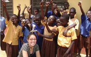 Kari Imoro, who graduated from the UA in 2012, served her Peace Corps rotation in Ghana as an art educator.