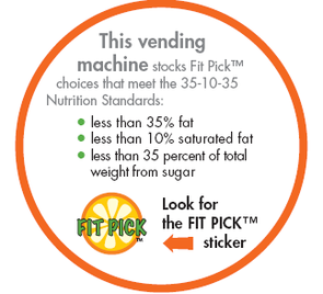 SHAC is working toward fitting all UA vending machines with healthier choices that are easy to identify with the 35-10-35 Fit Pick options.