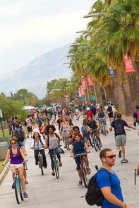 """The Times Higher Education ranking is among the better known international ranking systems, and of course we are delighted to see ourselves in the top 100 as judged by academic peer experts from around the world,"" UA Provost Andrew Comrie said. (Photo credit: University of Arizona RedBar)"