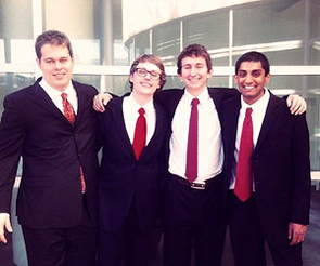 Daniel Patrick Fried (second from right) is one of two UA students to be named a recipient of the 2013 Goldwater Scholarship. (Photo courtesy of the UA Eller College of Management)