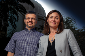 EHT Project Scientist Dimitrios Psaltis and EHT Council Member Feryal Ozel are professors of astronomy and physics at the UA. (Photo: Bob Demers/UANews)