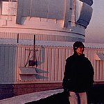 Freed and the Gemini North Telescope (Photo: Laird Close)