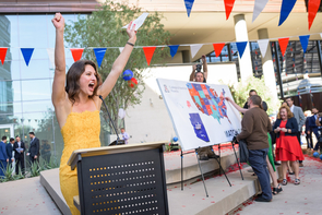 Gabriella Smith celebrates her match with the UA College of Medicine – Phoenix.  (Photo: Sun Czar Belous)