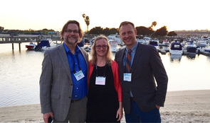 Members of the School of Information leadership team attended the iConference in Newport Beach, California, in March. From left: Bryan Heidorn, School of Information director; Catherine Brooks, School of Information director of undergraduate studies; and Kelland Thomas, School of Information associate director.