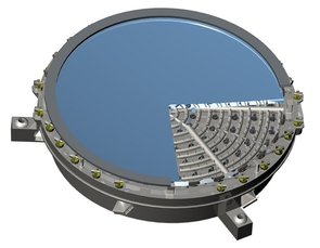 The curved mirror will be manufactured such that it can be adjusted to suit the surrounding conditions using actuators and controlled ventilation on its backside. (Image: AURA)