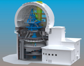 The Advanced Technology Solar Telescope is being built on Mount Haleakalā, Maui, Hawaii. First light is scheduled for 2018. (Image: AURA)