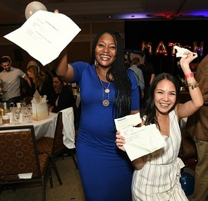 From left: Toyosi Oduyem matched in anesthesiology at the University of Southern California, Los Angeles, and Jayce Panglinan matched in internal medicine at the University of Colorado in Denver. (Photo: Rick Kopstein/UAHS Biocommunications)