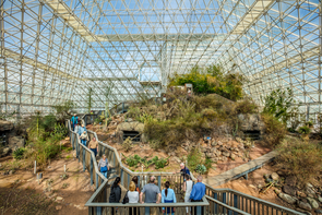 Visitors explore Biosphere 2. (Photo: Steven Meckler)