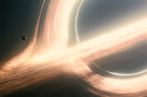 "A black hole as depicted in the movie ""Interstellar."" (Image: Paramount Pictures)"