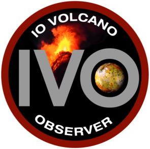 The Io Volcano Observer, or IVO, logo. (Courtesy: IVO Team)