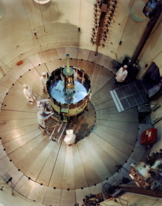 NASA's ISEE space probe undergoing testing before launch in 1978. (Photo: NASA)