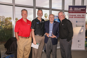 From left: David Allen, Doug Hockstad, James C. Wyant and UA President Robert C. Robbins. (Photo: Tech Launch Arizona)