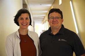 Colleen Janczak and Craig Aspinwall. (Photo: Paul Tumarkin/Tech Launch Arizona)