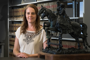 Jane Bambauer teaches about privacy and free speech, among other topics, in the James E. Rogers College of Law. (Photo: Bob Demers/UANews)