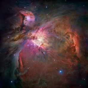 The HEAT telescope observes star-forming molecular clouds such as the Orion nebula, which to some appears as the shape of a winged dragon in flight. Scientists know little about the lifecycle of these molecular clouds. (Image: NASA)