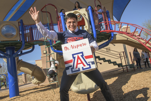 Ivan Aispuro will complete his residency at LAC+USC Medical Center. (Photo: Kris Hanning/University of Arizona Health Sciences)