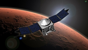 The MAVEN spacecraft explores the mystery of how and why Mars has been losing its atmosphere. (Image: NASA/JPL)