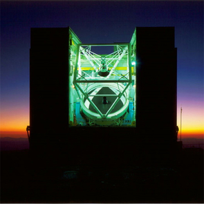 The MMT Telescope is located on Mount Hopkins, 37 miles south of Tucson. When the telescope was completed in 1979, it was called the Multiple-Mirror Telescope, as it was comprised of six smaller mirrors. The smaller mirrors were replaced by a single 6.5-meter mirror in 2000, but the name MMT was retained. (Photo: Howard Lester)