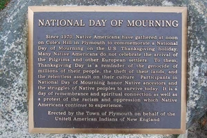On Nov. 23, Native Americans will gather in Plymouth, Massachusetts, to commemorate a National Day of Mourning, rather than Thanksgiving. A similar gathering will take place in San Francisco, California, on Alcatraz Island. (Photo: United American Indians of New England)