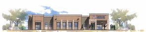 An artist's rendering of the University of Arizona Center for Innovation at Oro Valley