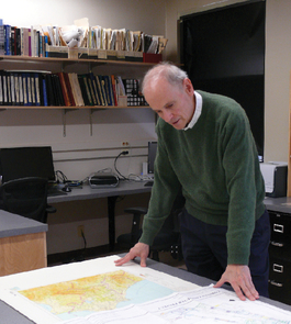 UA archaeologist David Romano has jumped into his work at the UA, quickly setting up the Archaeology Mapping Lab, which will benefit students from all over campus, including those in anthropology, classics, history, architecture and geography. The lab is dedicated to the scientific study of ancient cities and sanctuaries, using digital cartography, GIS (geographic information systems), remote sensing and other spatial analysis technologies.