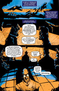 "A page from the first issue of ""Colonus."""