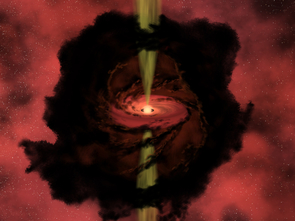 In this artist's conception, observers peer through the dark dust of a star-forming cloud to witness the birth of a star. The survey by Yancy Shirley and his group catalogued and mapped such regions in their earliest phases, when the gas and dust in the star-forming clouds are just beginning to coalesce. (Image: NASA)