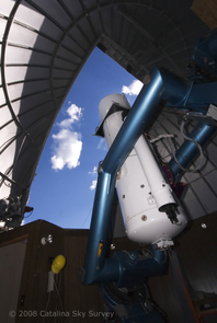 The Schmidt Telescope located on Mt. Bigelow in the Catalina Mountains just north of Tucson, Ariz. is one of the instruments used to detect asteroids that could pose a hazard to Earth. (Photo: Catalina Sky Survey)