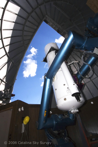 Night after night, the UA's Catalina Sky Survey team scans the sky using the Schmidt-Telescope atop Mt. Lemmon, just north of Tucson, in what is the world's most prolific search for potentially hazardous space rocks. (Photo: Catalina Sky Survey/UA)