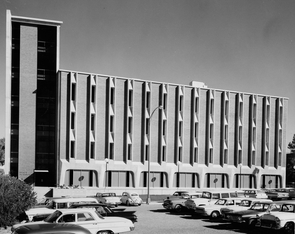 The UA's Space Sciences building was completed in the fall of 1966. (Courtesy of Lunar and Planetary Laboratory)