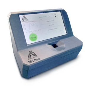 The spectrometer – about the size of a file box – is 94 to 99 percent accurate in analyzing the chemical makeup of samples and requires minimal training to operate. Image credit: Botanisol Analytics.