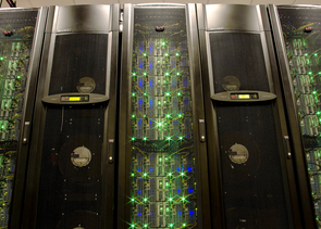 Data analyses for the 1KP project are run on supercomputers such as Stampede at the Texas Advanced Computing Center. The iPlant Collaborative provides computational resources for life sciences research through supercomputers at TACC and the University of Arizona. (Photo courtesy of Texas Advanced Computing Center)