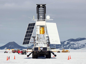 STO's gondola carrying the telescope and other scientific instruments (Photo: Christopher Walker)