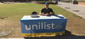 Alec Kretch at Monday's launch of Unilist on the UA Mall