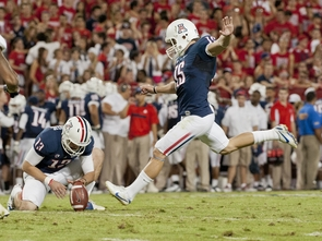 Senior placekicker John Bonano, the Pac-12 special teams player of the week. (Photo courtesy of Arizona Athletics)