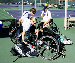 The UA wheelchair tennis team will have three representatives competing in the London 2012 Games: alumnus and wheelchair tennis and rugby coach Bryan Barten; Adam Kellerman, a sophomore physiology major who will represent Australia; and May 2012 UA graduate in engineering management with a minor in aerospace engineering, Noah Yablong.