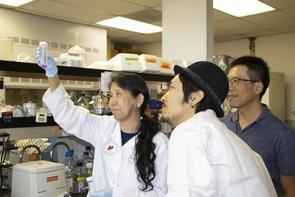 Kimiko Della Croce, Kotaro Fujimaki and Guang Yao. (Photo: Michele Vaughan)