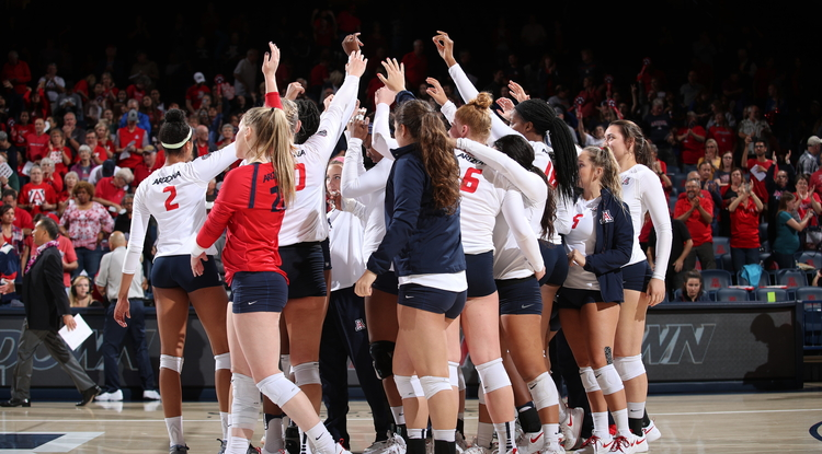 UA volleyball student-athletes will be enrolled in a study abroad class on their upcoming European trip. (Photo: Arizona Athletics)
